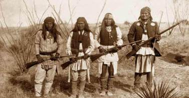 Geronimo with other Apache warriors.