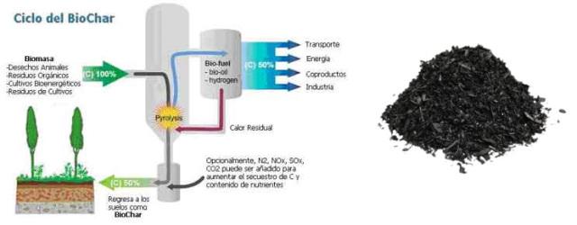 Producción de biochar
